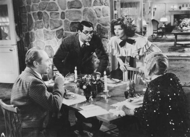 Charles Ruggles, Cary Grant, Katharine Hepburn, May Robson