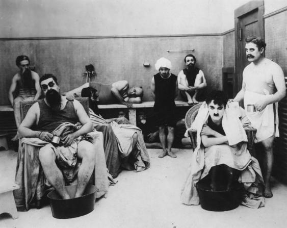 Eric Campbell, Charles Chaplin, John Rand