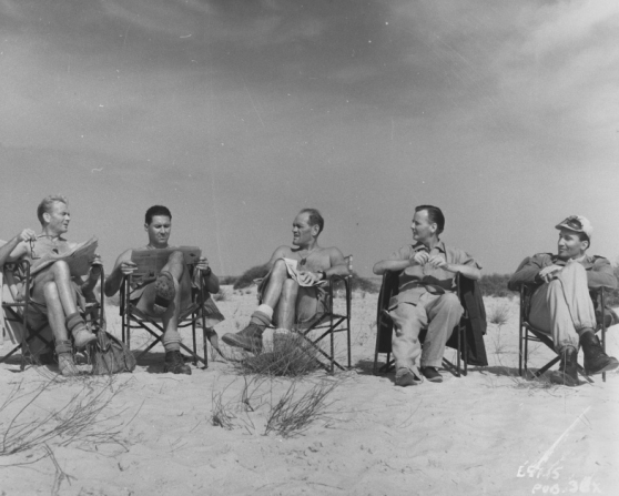 John Mills, Anthony Quayle, Harry Andrews, J. Lee Thompson