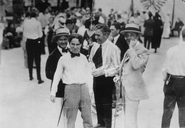 Charles Chaplin, Mack Sennett, D.W. Griffith