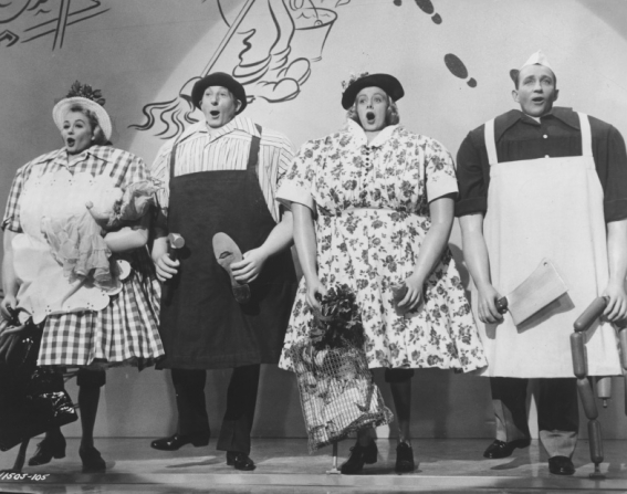 Vera-Ellen, Danny Kaye, Rosemary Clooney, Bing Crosby