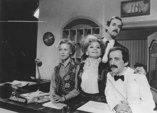 John Cleese, Prunella Scales, Connie Booth, Andrew Sachs