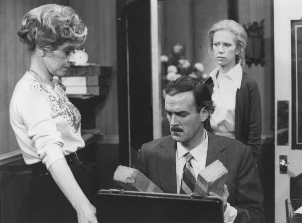 Prunella Scales, John Cleese, Connie Booth