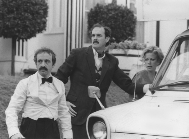 Andrew Sachs, John Cleese, Connie Booth