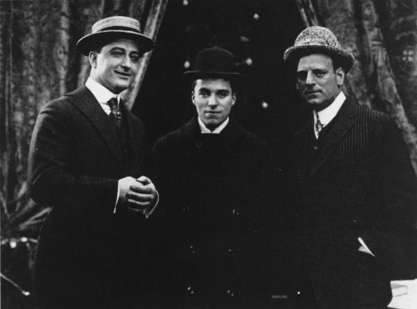 Charles Chaplin, Francis X. Bushman, G.M. Anderson