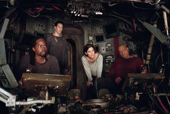 Harold Perrineau Jr, Keanu Reeves, Carrie-Anne Moss, Laurence Fishburne