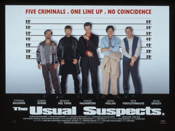 Kevin Spacey, Gabriel Byrne, Stephen Baldwin, Kevin Pollak, Benicio del Toro