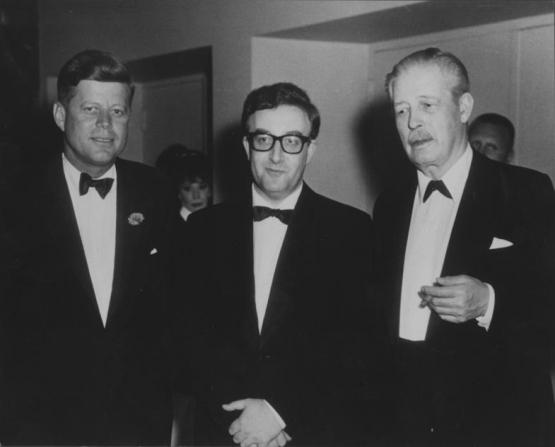 Peter Sellers, John F. Kennedy, Harold Macmillan
