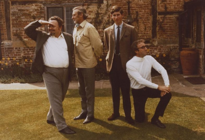 Peter Sellers, Harry Secombe, Prince of Wales Charles, Spike Milligan