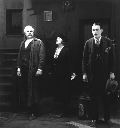 Edna Purviance, Carl Miller, Charles K. French