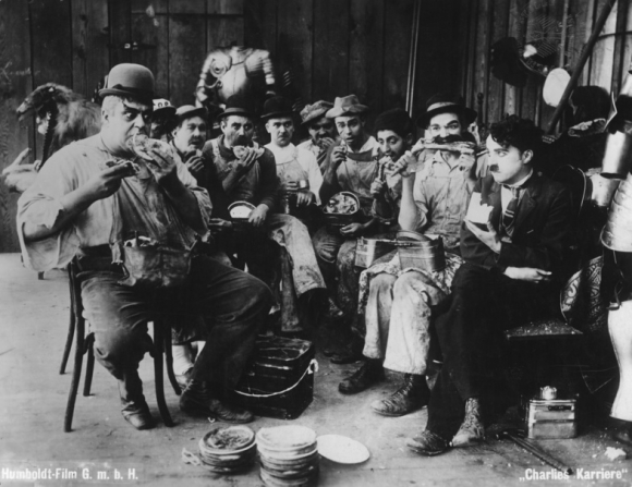 Charles Chaplin, Eric Campbell, Albert Austin