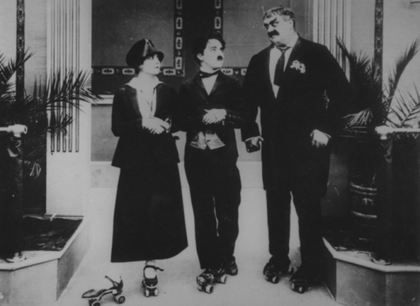 Charles Chaplin, Eric Campbell, Edna Purviance