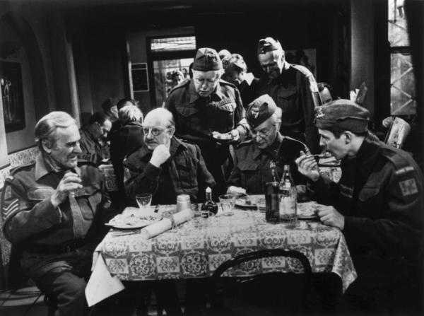Arthur Lowe, John Le Mesurier, John Laurie, Arnold Ridley, Clive Dunn, Ian Lavender