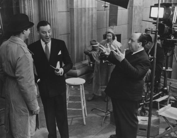 Joel McCrea, Herbert Marshall, Alfred Hitchcock