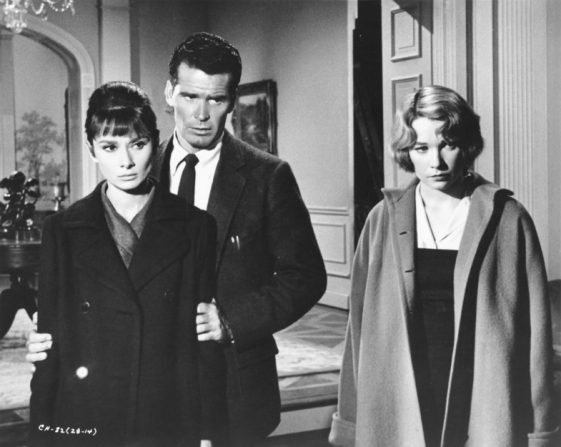 Audrey Hepburn, James Garner, Shirley MacLaine