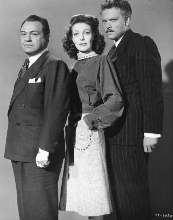 Edward G. Robinson, Loretta Young, Orson Welles