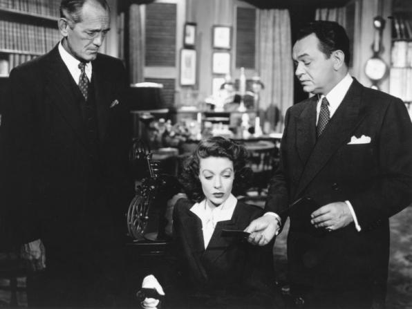Loretta Young, Edward G. Robinson, Philip Merivale