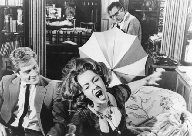 George Segal, Richard Burton, Elizabeth Taylor