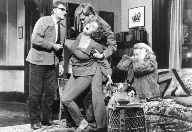 Richard Burton, Elizabeth Taylor, George Segal, Sandy Dennis
