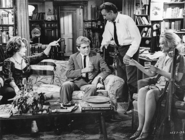 Elizabeth Taylor, George Segal, Richard Burton, Sandy Dennis