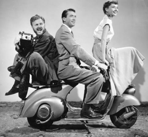 Eddie Albert, Gregory Peck, Audrey Hepburn