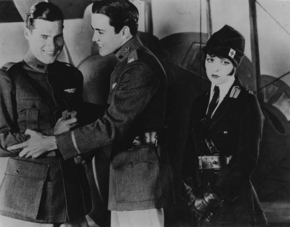 Richard Arlen, Charles Rogers, Clara Bow