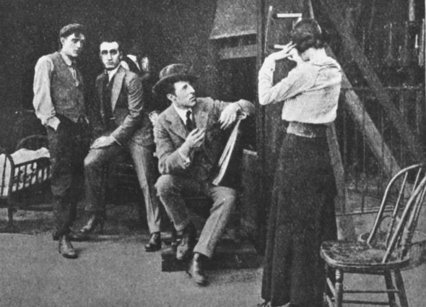 D.W. Griffith, Robert Harron, Donald Crisp, Mae Marsh