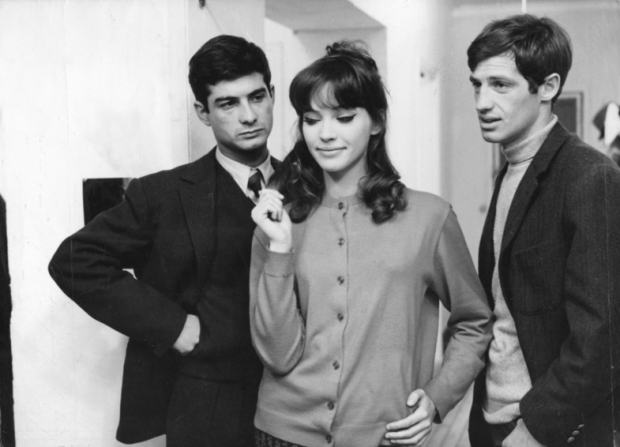 Jean-Paul Belmondo, Anna Karina, Jean-Claude Brialy