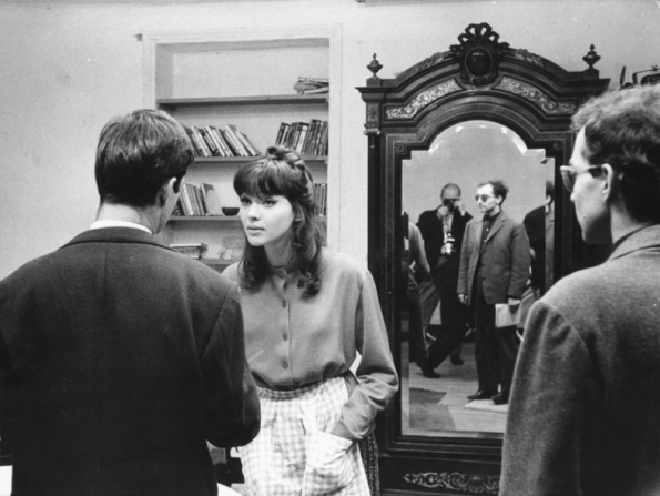 Jean-Claude Brialy, Anna Karina, Jean-Luc Godard