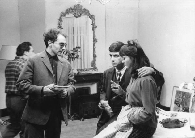 Jean-Luc Godard, Jean-Claude Brialy, Anna Karina