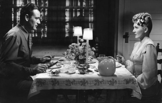 John Wayne, Jean Arthur
