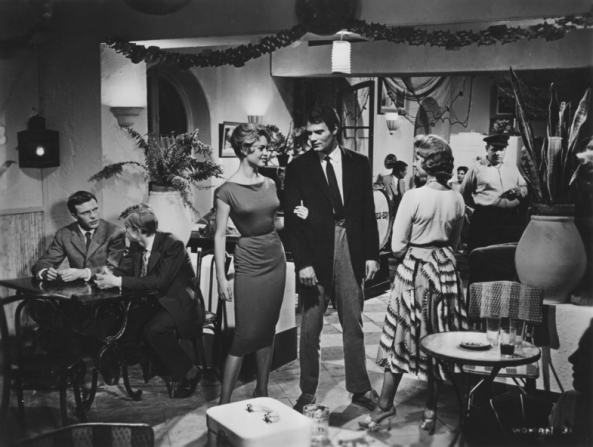 Brigitte Bardot, Ralph McCormick, Georges Poujouly, Jean-Louis Trintignant