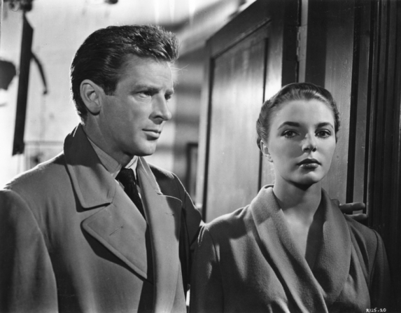 Richard Basehart, Joan Collins