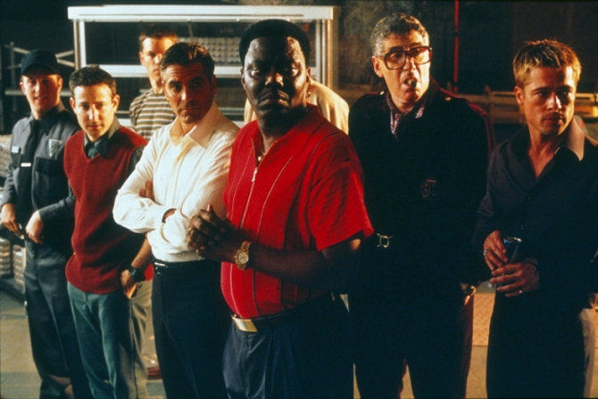 George Clooney, Matt Damon, Elliott Gould, Brad Pitt, Don Cheadle