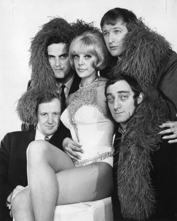 Tim Brooke-taylor, John Cleese, Graham Chapman, Marty Feldman, Aimi Macdonald