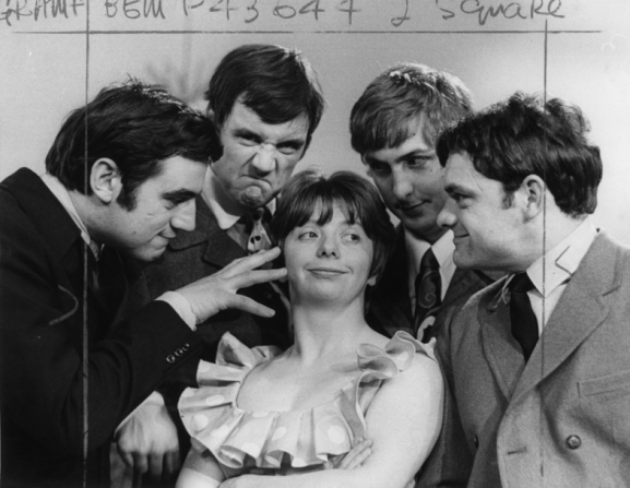 Terry Jones, Michael Palin, Denise Coffey, Eric Idle, David Jason