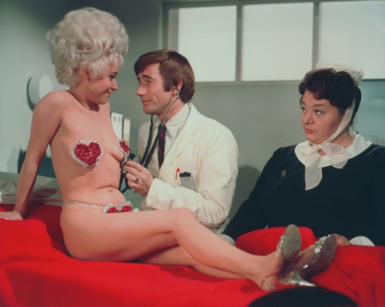 Barbara Windsor, Jim Dale, Hattie Jacques