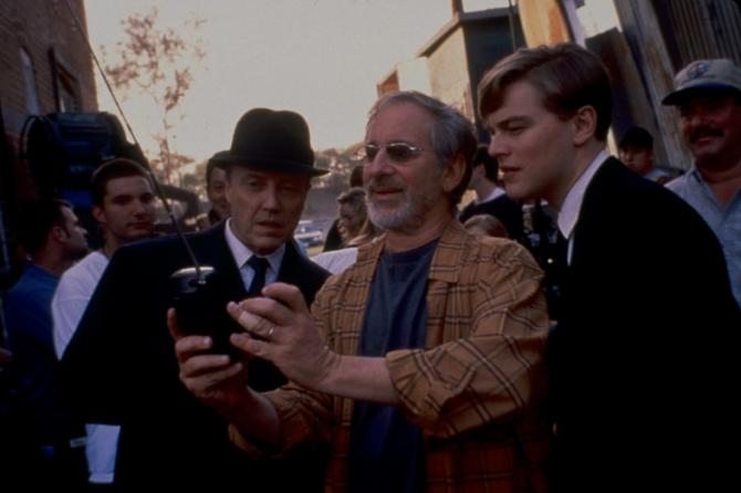 Christopher Walken, Steven Spielberg, Leonardo DiCaprio