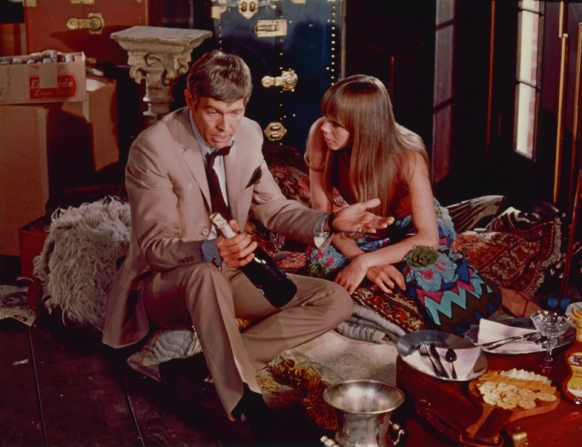 James Coburn, Joan Delaney