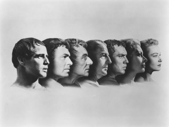 Marlon Brando, James Mason, John Gielgud, Louis Calhern, Edmond O'Brien, Greer Garson, Deborah Kerr