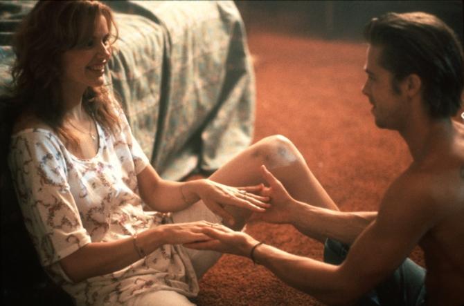 Geena Davis, Brad Pitt