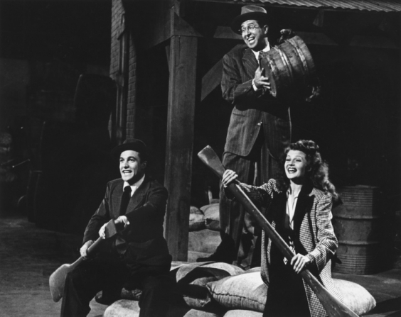 Gene Kelly, Phil Silvers, Rita Hayworth