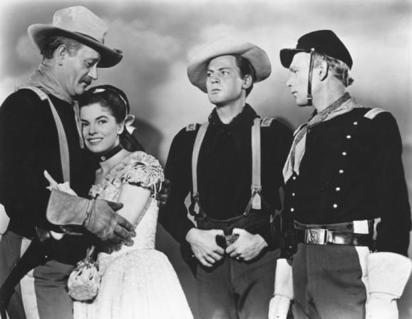 John Wayne, Joanne Dru, John Agar