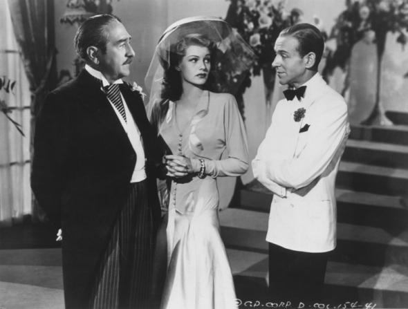 Adolphe Menjou, Rita Hayworth, Fred Astaire