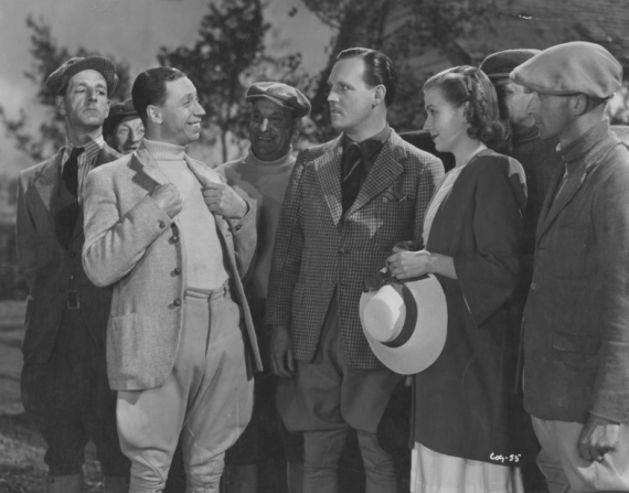 Ronald Shiner, George Formby, Cyril Raymond, Meriel Forbes