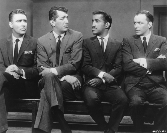 Peter Lawford, Dean Martin, Sammy Davis Jr, Frank Sinatra