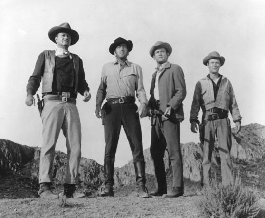 John Wayne, Dean Martin, Earl Holliman, Michael Anderson Jr