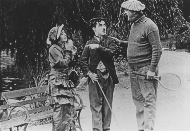Mabel Normand, Charles Chaplin, Mack Swain