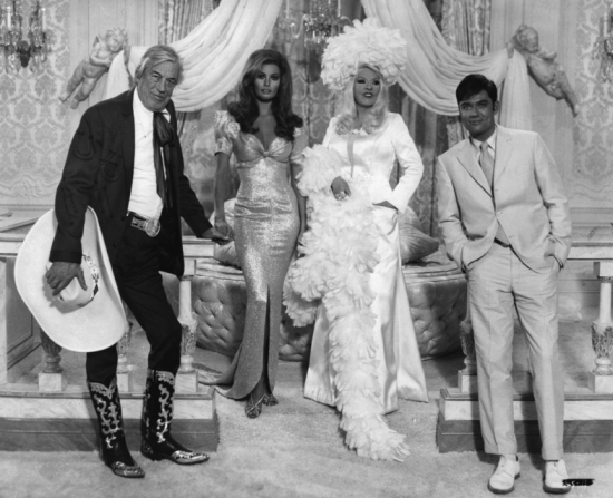 John Huston, Raquel Welch, Mae West, Rex Reed