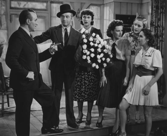 Donald Crisp, Claude Rains, Gail Page, Lola Lane, Priscilla Lane, Rosemary Lane, Bette Davis